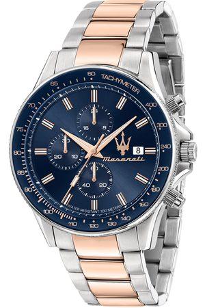 Maserati Mężczyzna Zegarki - Zegarek - Sfida R8873640012 Silver/Navy