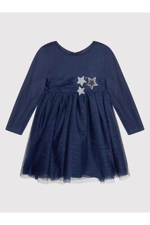 Billieblush Dziewczynka Sukienki koktajlowe i wieczorowe - Sukienka elegancka U12690 Granatowy Regular Fit