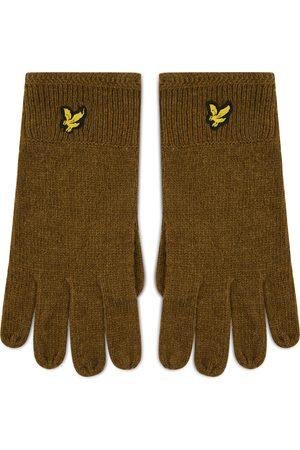 Lyle & Scott Rękawiczki Męskie - Racked Rib Gloves GL304CL Olive W485