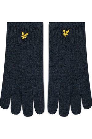 Lyle & Scott Mężczyzna Rękawiczki - Rękawiczki Męskie - Racked Rib Gloves GL304CL Dark Navy Z271