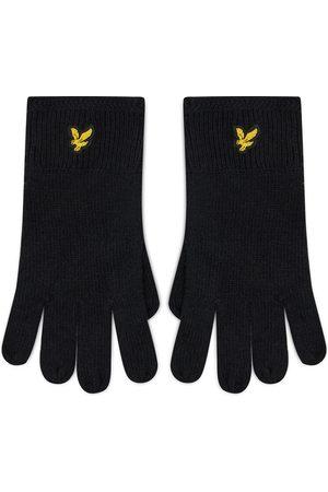 Lyle & Scott Mężczyzna Rękawiczki - Rękawiczki Męskie - Racked Rib Gloves GL304CL True Black