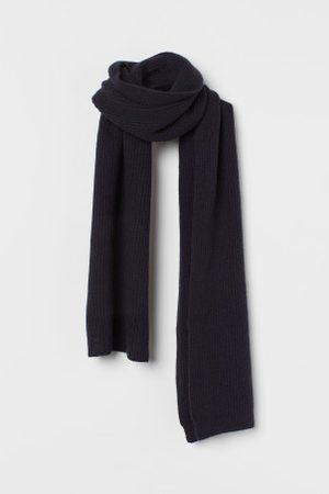 H&M Kaszmirowy szalik w prążki