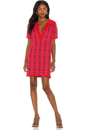 Free People Kitt Mini Dress in - Red. Size L (also in S, M).