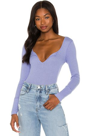 Free People Ciara Layering Top in - Lavender. Size L (also in XS, S, M).
