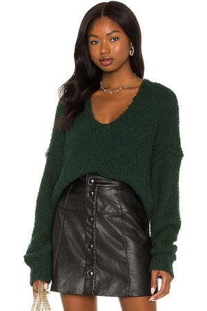 Free People Theo V Neck Sweater in - Dark Green. Size S (also in ).