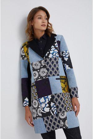 Desigual Płaszcz z domieszką wełny