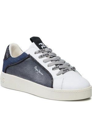 Pepe Jeans Sneakersy Brixton Denim PLS31212 Granatowy