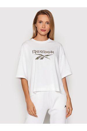 Reebok Kobieta Z krótkim rękawem - T-Shirt Classics Animal-Print Graphic H41352 Oversize