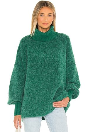 Free People Kobieta Swetry i Pulowery - Milo Pullover in - Teal. Size L (also in M, S, XS).