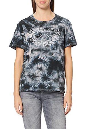 Hurley Damska koszulka w stylu 'W Melody Washed Relaxed Gf' Blakc Coral Tie dye XS