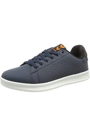 Hummel Unisex Busan Synth. Nubuck Sneaker, - Black Iris - 40.5 EU
