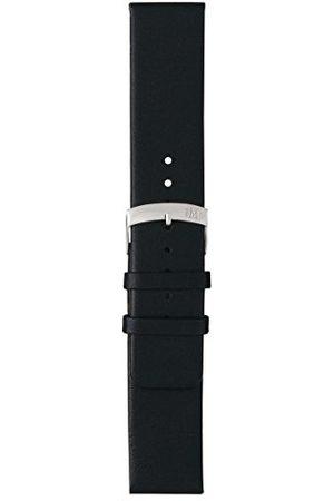 Morellato Bransoletka skórzana do zegarka unisex LARGE czarna 16 mm A01X3076875019CR30