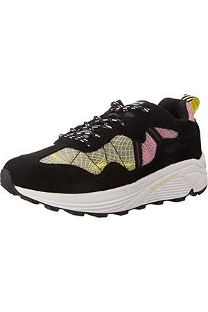 KangaROOS Unisex Dynaflow - Vibram Sneakers, Jet Black Neon Pink - 47 EU