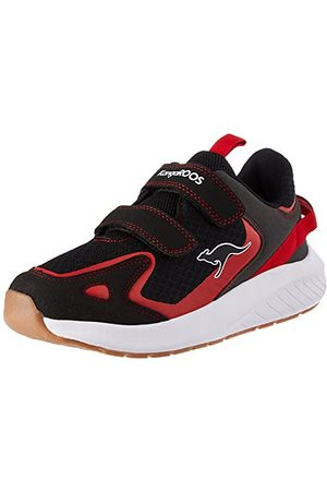 KangaROOS Unisex K-Fort One V Sneaker, - Jet Black Fiery Red - 39 eu