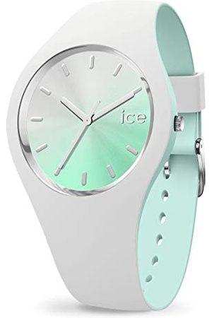 Ice-Watch ICE duo chic White aqua - damski zegarek na rękę z silikonowym paskiem - 016984 (średni)