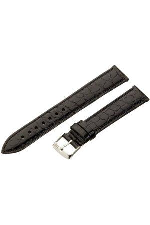 Morellato Bransoletka skórzana do zegarka męskiego LIVERPOOL czarna 20 mm A01K0751376019CR20