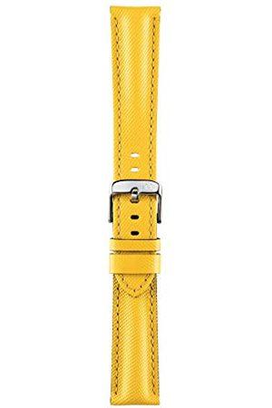 Morellato Bransoletka do zegarka, kolekcja sportowa, mod. Riding, z prawdziwej skóry, wodoodporna - A01X4749797 Taśma 18mm żółty