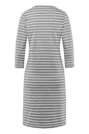 bellybutton Damska koszula nocna HONORIA rękaw 1/2, (Gray 8110), XS
