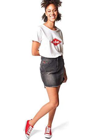 Lee Cooper Damska spódnica dżinsowa z wysokim stanem, Dunkelgrau, standardowa