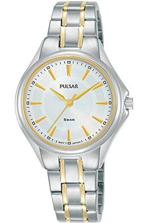 Pulsar Damski analogowy zegarek kwarcowy z bransoletką ze stali szlachetnej kwarcowy. srebrno