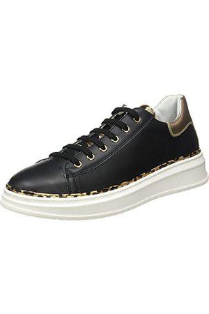 Naturino Damskie buty sportowe Porter z zamkiem błyskawicznym, Czarna platyna - 38 EU