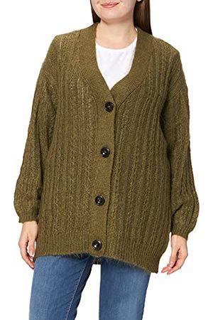 Noa Noa Damski sweter Essential Winter Mohair, długi rękaw, olive green, XL