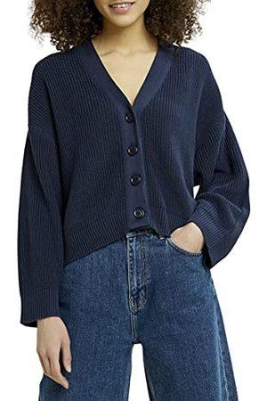 People Tree Damski sweter z dzianiny organicznej Jasmine, granatowy, 34 PL