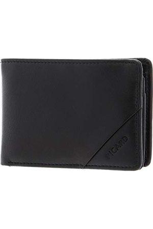 Picard Męski portfel z serii Soft Safe, w kolorze czarnym, z gładkiej skóry, format poziomy 99031L8001