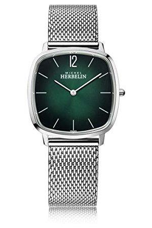 Michel Herbelin Mężczyzna Zegarki - Męski analogowy zegarek kwarcowy z bransoletką ze stali szlachetnej 16905/16B