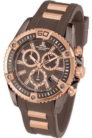 Jacques Lemans Męski zegarek na rękę XL Liverpool Professional chronograf kwarcowy silikon bransoletka Rozmiar uniwersalny