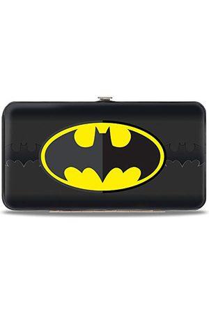 Buckle Portfel - zapinany na zawias portfel - ikona Batmana wyśrodkowany / nietoperz sygnał pasek czarny/żółty/szary unisex - dorośli