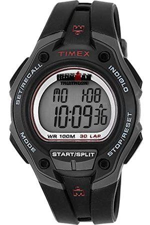 Timex Męski zegarek cyfrowy z wyświetlaczem cyfrowym i paskiem z żywicy pasek Jeden rozmiar