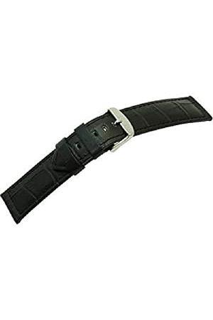 Morellato Męski pasek do zegarka, kolekcja MANUFATTI, mod. Botero, wykonany z prawdziwej skóry cielęcej - nadruk krokodylkowy - A01U226480 pasek 24mm