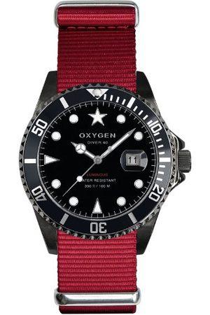 Oxygen Unisex zegarek na rękę Moby Dick Black 40 analogowy kwarcowy nylon EX-D-MBB-40-RE