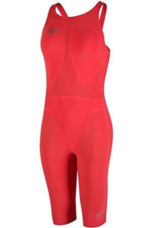 Speedo Damski 68-11353B571_20_B571 jednoczęściowy kostium kąpielowy Lava Red/Silver