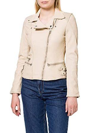 GOOSECRAFT Damska kurtka Gc Nena Biker Leather Jacket, Creamer, XXL