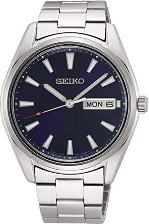 Seiko Męski analogowy japoński zegarek kwarcowy z bransoletką ze stali szlachetnej, , M, kwarcowy.