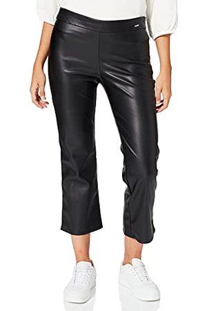 Herrlicher Damskie spodnie sportowe Minie Fake Leather, Black 11, 32W/Regularny