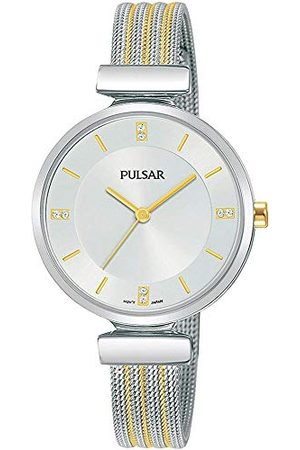 Pulsar Kwarcowy zegarek damski ze stali nierdzewnej z metalowym paskiem kwarcowy. srebrno