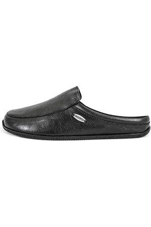 Giesswein Manta – kapcie uniseks, wygodne, płaskie skórzane pantofle, mocna gumowa podeszwa, wygodne, eleganckie, - Schwarz 022 Schwarz - 44 EU