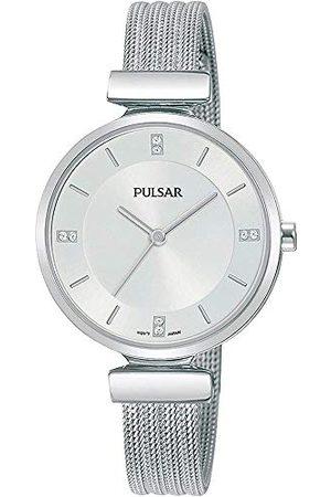 Pulsar Kwarcowy damski zegarek ze stali nierdzewnej z metalowym paskiem PH8467X1