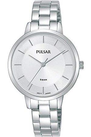 Pulsar Kwarcowy damski zegarek ze stali nierdzewnej z metalowym paskiem PH8473X1