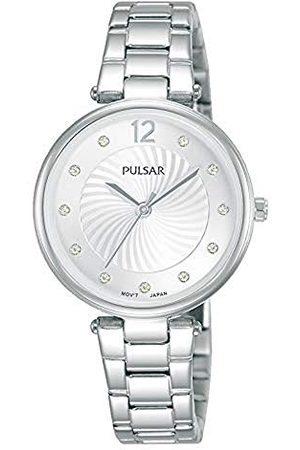 Pulsar Damski analogowy zegarek kwarcowy z metalową bransoletką kwarcowy.
