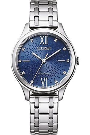 Citizen Damski analogowy zegarek Eco-Drive z bransoletką ze stali szlachetnej EM0500-73L