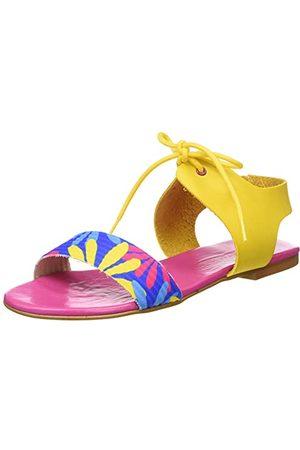 Agatha Ruiz de la Prada Damskie sandały Agatha 114 Wedge, Azul Flores wielokolorowa, 37 EU
