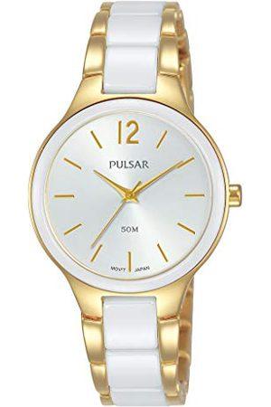 Pulsar Kwarcowy zegarek damski stal szlachetna z metalowym paskiem PH8434X1