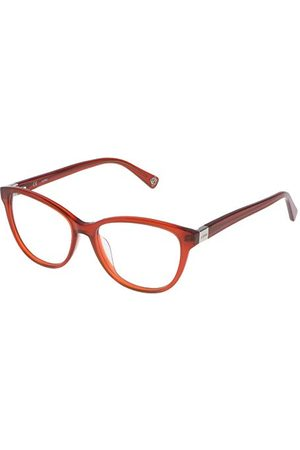 Loewe Unisex VLW92353099P oprawka okularów, zielona (Shiny Opaline Brick), 55