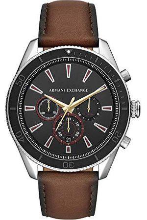 Emporio Armani Męski chronograf kwarcowy zegarek ze skórzanym paskiem AX1822