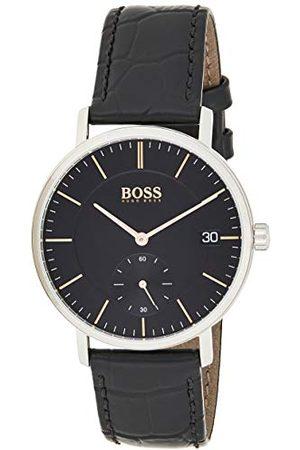 HUGO BOSS Męski analogowy klasyczny zegarek kwarcowy ze skórzanym paskiem 1513638