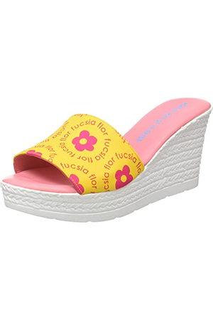 Agatha Ruiz de la Prada Damskie sandały Agatha 122 Wedge, Amarillo Flores Fucsia, 38 EU